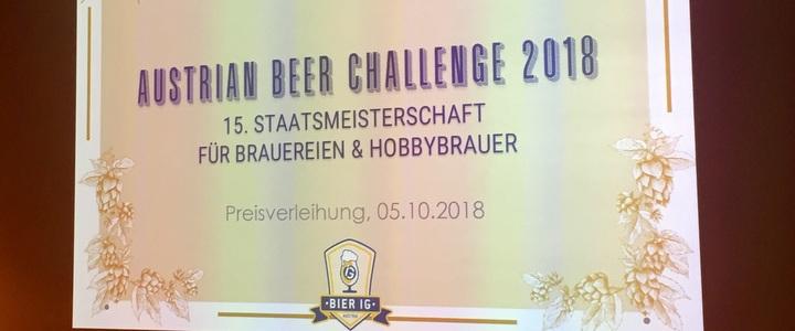 Austrian Beer Challenge 2018: Prämierung